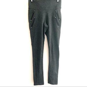 Suzy Sheir moto zipper gray legging